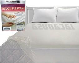 Fitted Vinyl Mattress Protector Lightweight Plastic Bed Cove