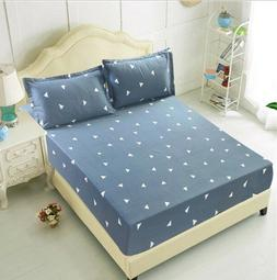 Flower Printed Mattress Covers Fitted Sheet Sets Bed Sheet W