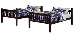 Angel Line Fremont Twin Over Twin Bunk Bed, Espresso
