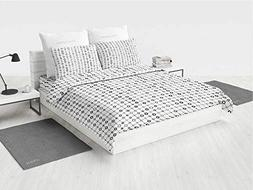Geometric Toddler Bedding Sets for Girls Monochrome Grid wit