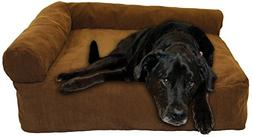 "Good Dog Mattress w/Bolster 30"" X 40"" X 10"" Small Corduro Pa"