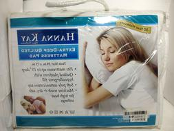 Hanna Kay Hypoallergenic Quilted Stretch-to-Fit Mattress Pad