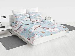 Japanese Twin daybed Bedding Sets Spring Flower with Birds a