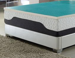 """AC Pacific 2"""" Latex Foam Topper Cool Gel Layer Conventional"""