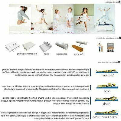 "10"" inch Memory Mattress - Cool Gel Firm -"