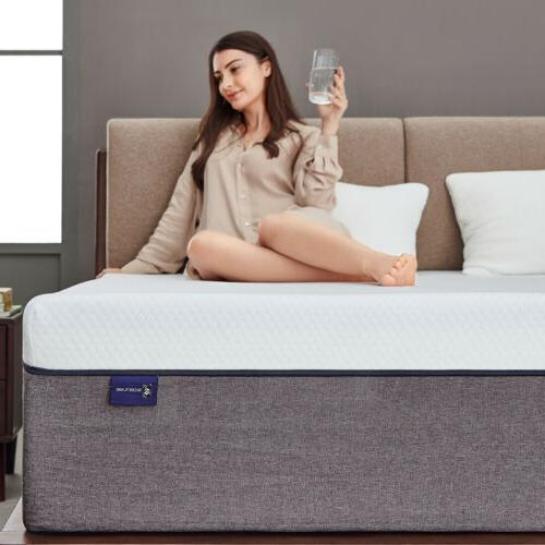 8 Inch Queen Size Gel Memory Foam Mattress With CertiPUR-US