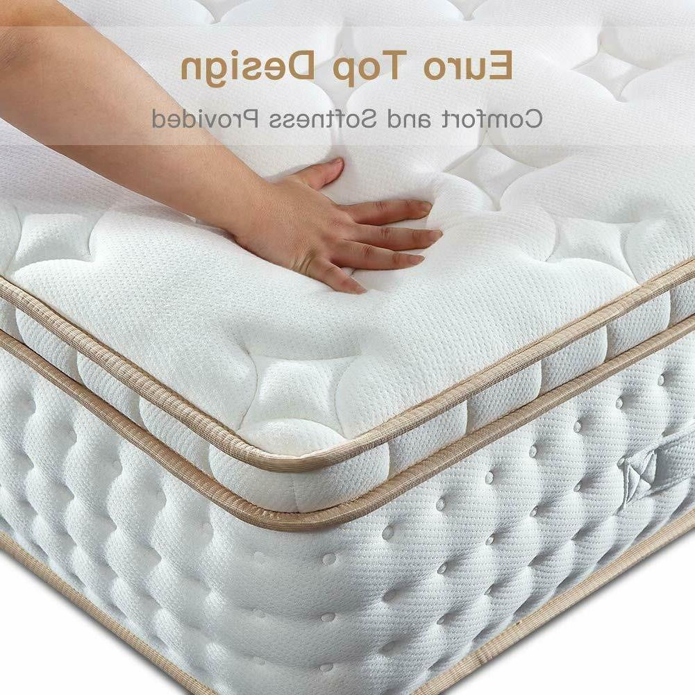 BedStory 10 12 Inch Gel Infused Memory Foam Hybrid Mattress