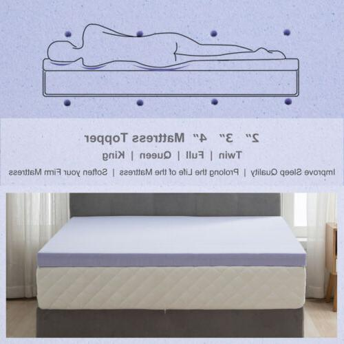 Topper-Twin Queen Comfort Gel Foam Mattress 2''/2.5''/3''/4''