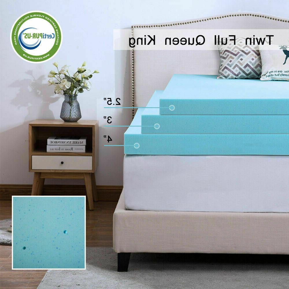 2/3 Memory Foam Mattress Topper Dot Twin