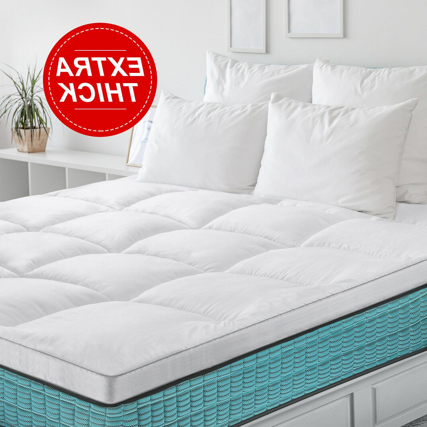 2 mattress topper hypoallergenic down pad cover