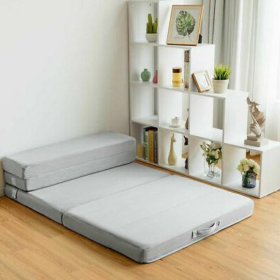 "4"" Foam Mattress Bed Guests Floor Carrying"