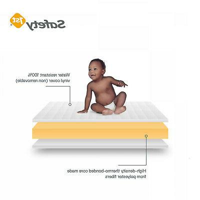"""5"""" Baby Crib Mattress Standard Cribs Water Resistant White Bed"""
