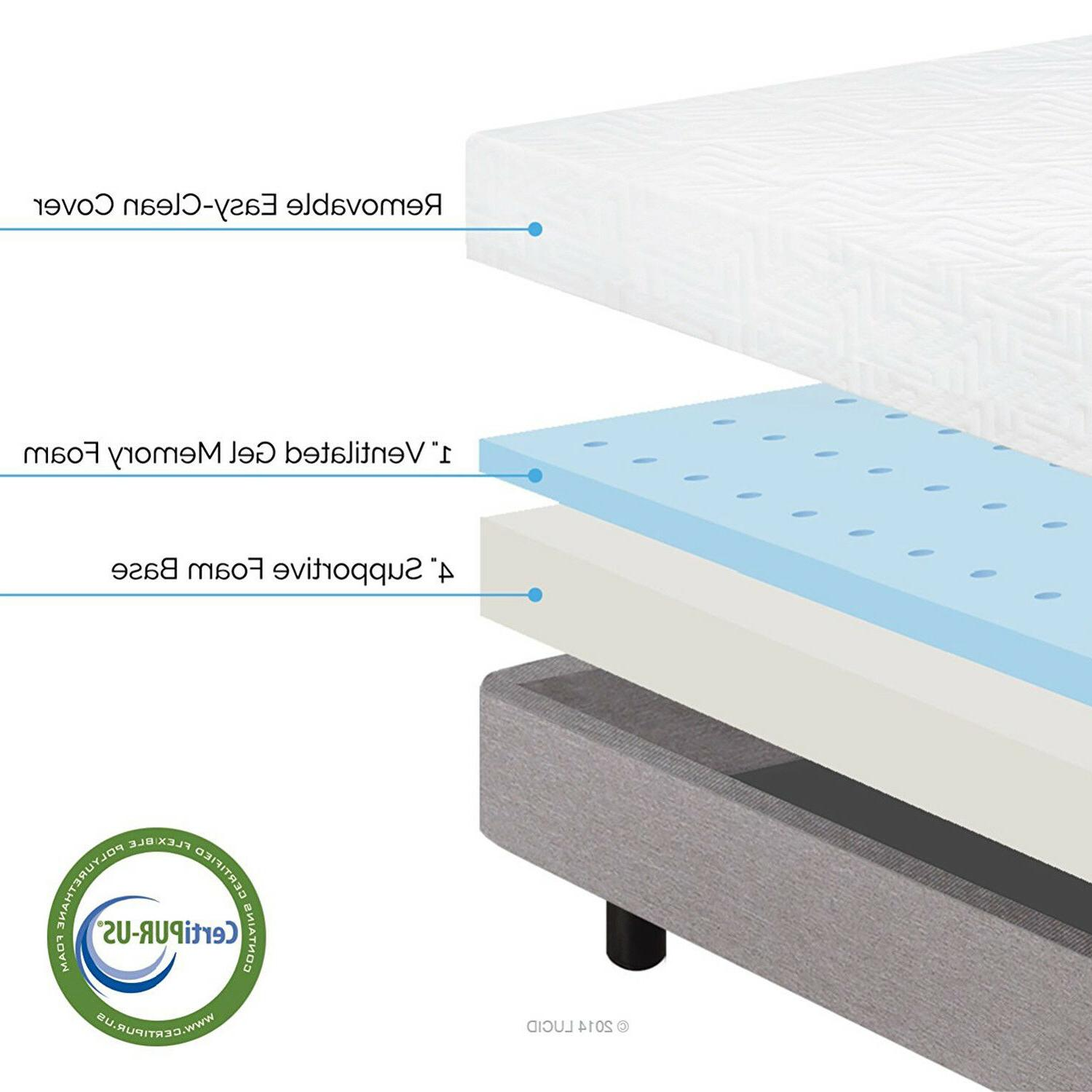 LUCID Memory Mattress Layered Cool