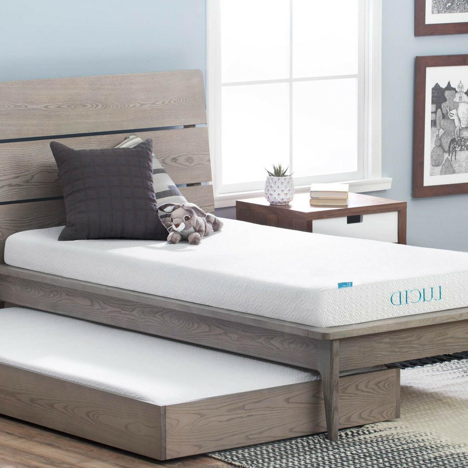 LUCID 5 inch Gel Memory Foam Mattress Layered CertiPUR Cool