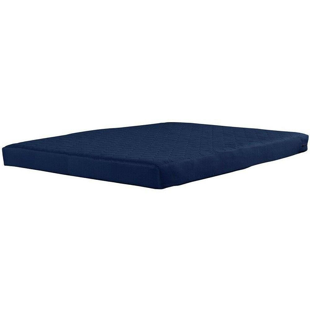 6 Inch Bunk Bed Mattress Quilted Top Cotton And Navy New