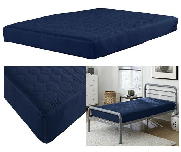 6 inch bunk bed mattress quilted top