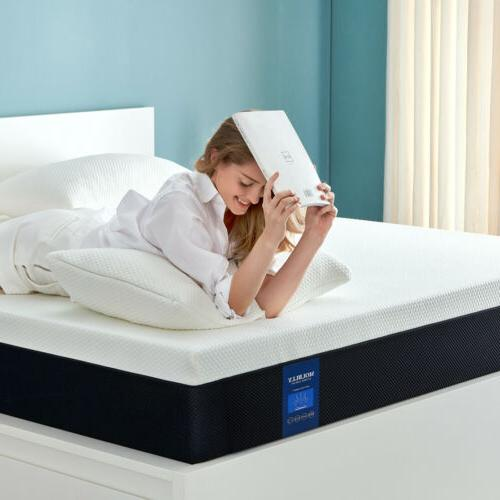 10 Inch Full Size Gel Memory Foam Mattress With CertiPUR-U