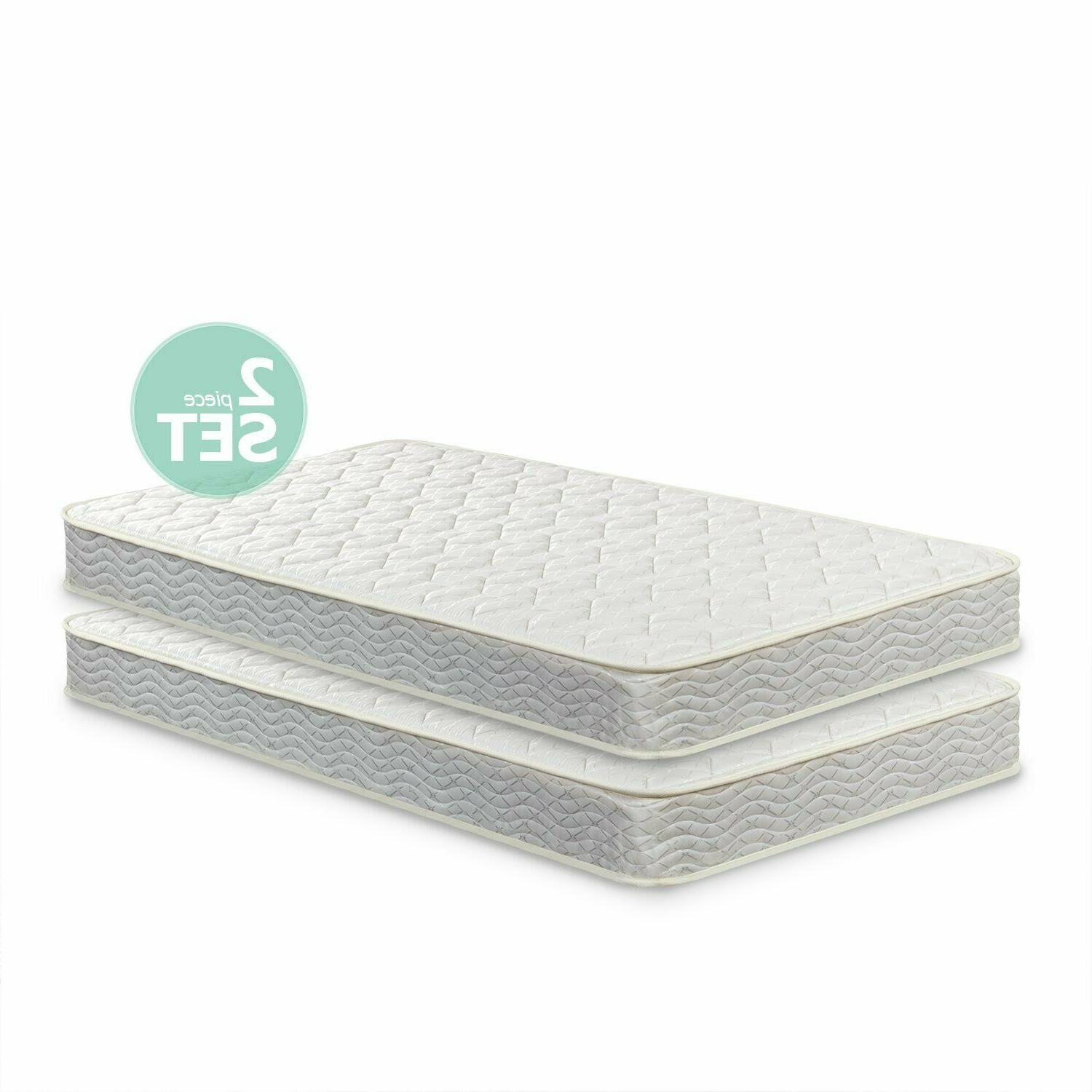 6 inch spring twin mattress 2 pack