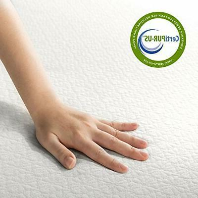 Zinus Inch Foam and Spring CertiPUR-US Foams Mattres...