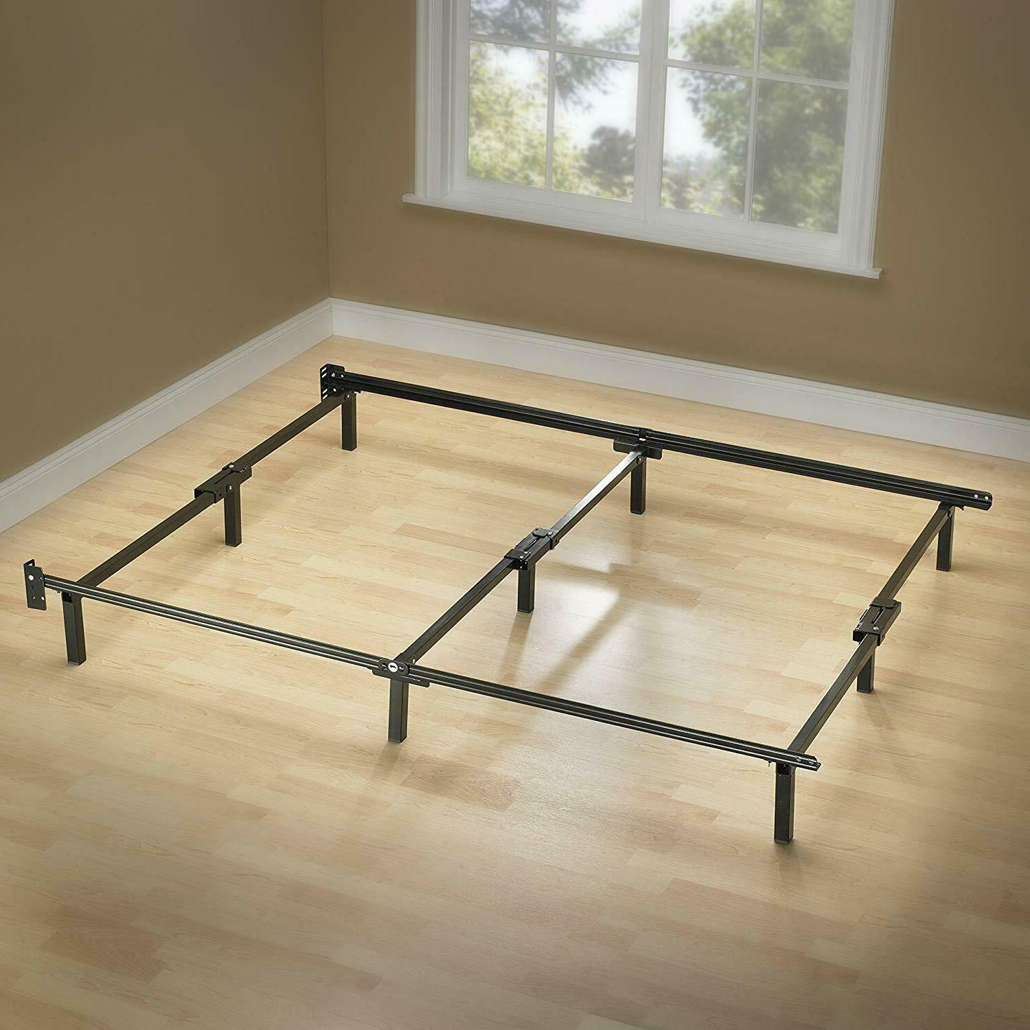 9-Leg Support Bed Frame, for Box Spring and Mattress Set,Ste