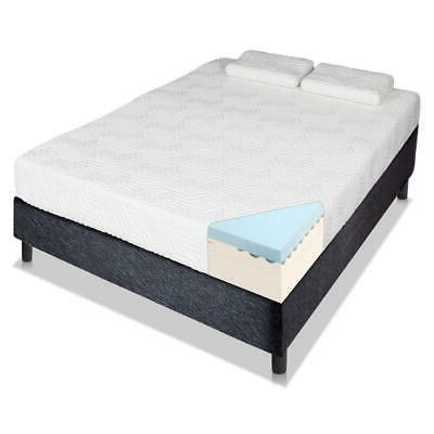 "Hot 14"" inch Queen COOL MEDIUM-FIRM Memory Foam Mattress Bed"