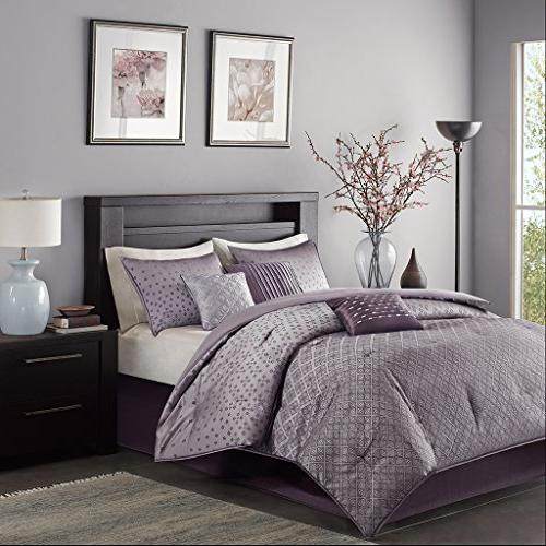 Madison Biloxi Size Bed in - Geometric 7 Pieces Sets – Ultra Soft Bedroom Comforters
