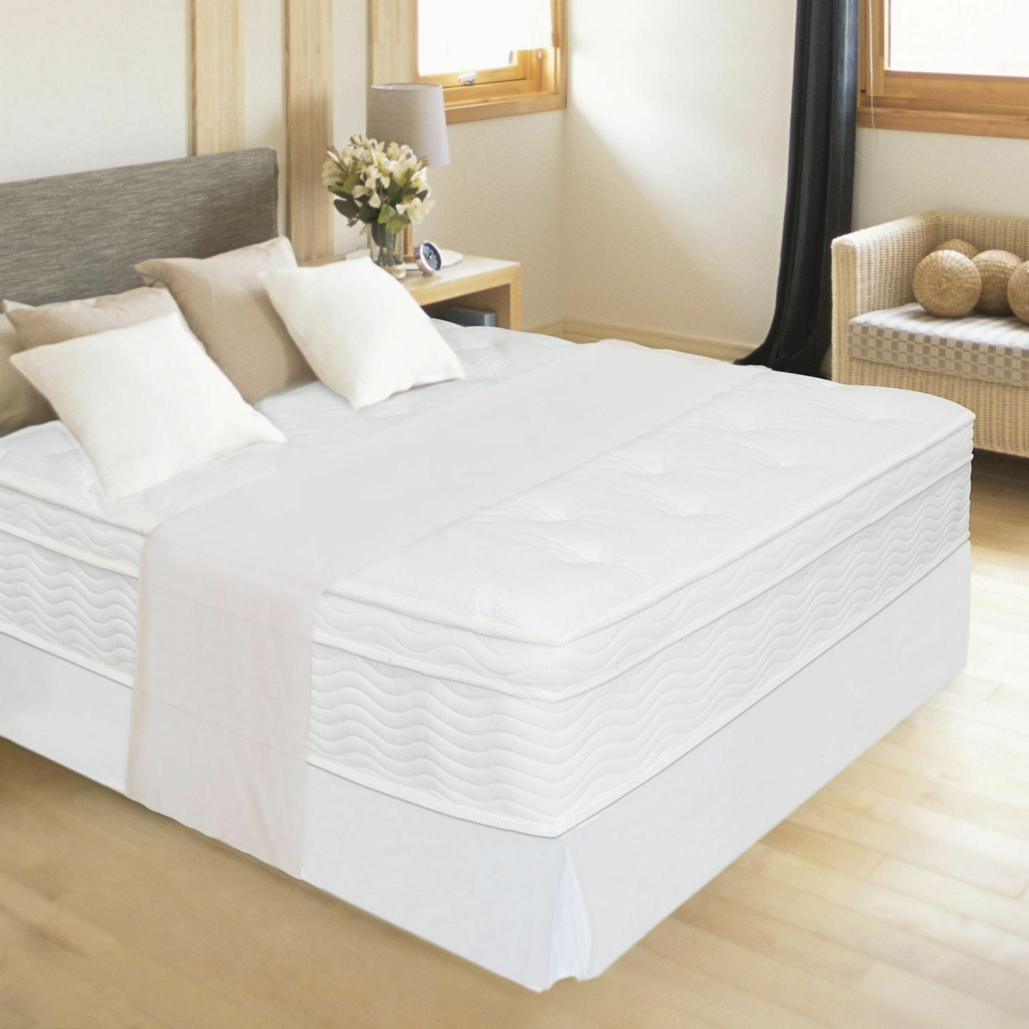 "NEW 12"" NIGHT THERAPY EURO BOX TOP SPRING MATTRESS - FULL BE"