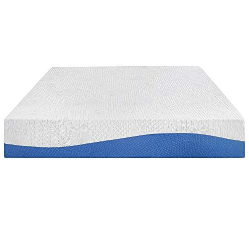 PrimaSleep Memory Mattress, H, Full, Blue