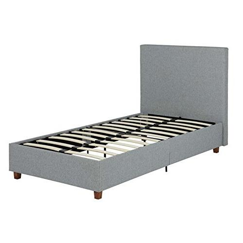 DHP Alexander Upholstered Bed with Wooden Support, -