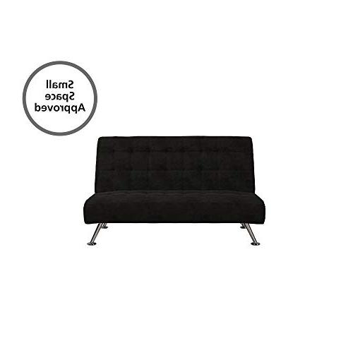 DHP Futon, Converts to Bed for Black