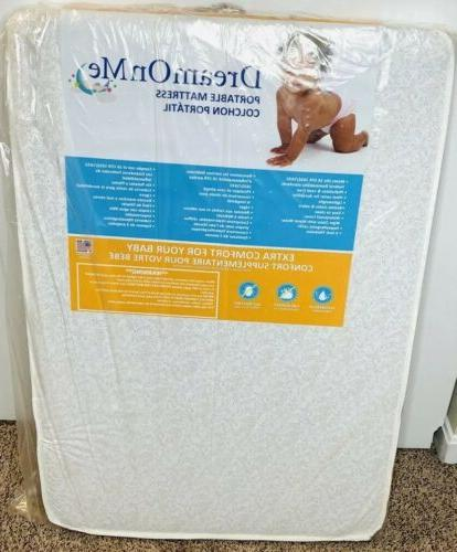 "Baby Toddler Dream On Me 3"" Portable Play Yard Crib Mattress 24"""