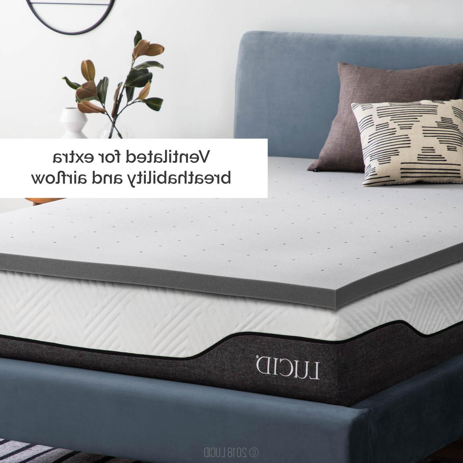 LUCID Charcoal Foam Mattress Twin Queen and King