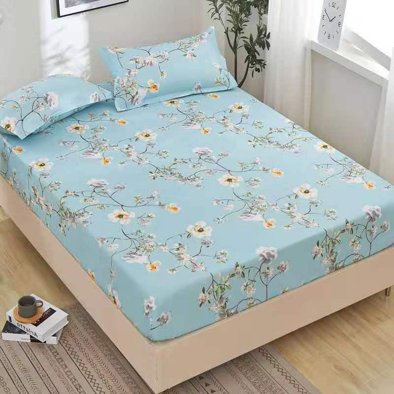 Bonenjoy Bed Sheet with Pillowcase Sheet Elastic Linen <font><b>Polyester</b></font> <font><b>Mattress</b></font> Queen