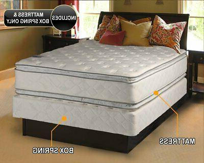 Dream Solutions Brand Two-Sided Pillowtop Mattress and Box S