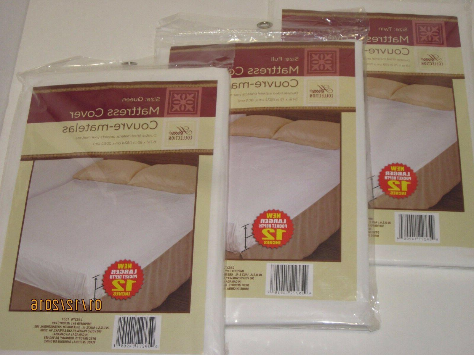 fitted plastic mattress protector lightweight cover bed