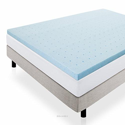 "LUCID 2"" Infused Ventilated Foam Topper Queen"