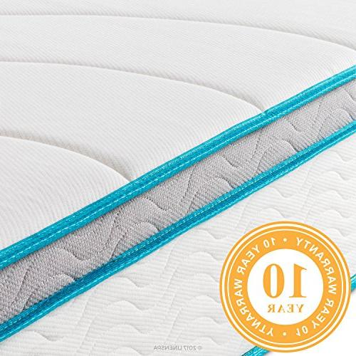 Memory Hybrid Mattress Individually Coils - Sleeps Cooler Than Memory - Support - Quilted Cover