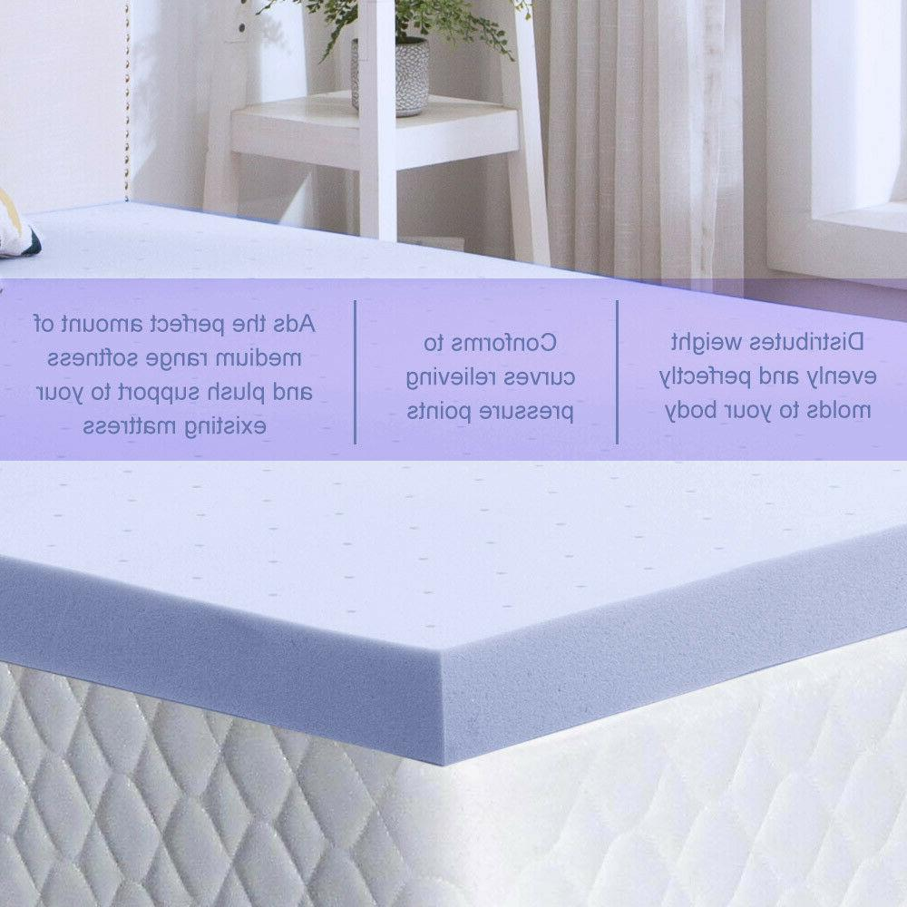 Gel Mattress Topper 2.5/3/4 Lavender Blue Swirl King Twin