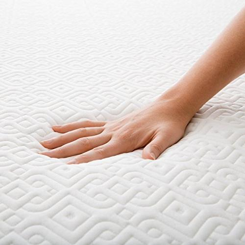LUCID 5 Inch Memory Foam Dual-Layered CertiPUR-US Twin