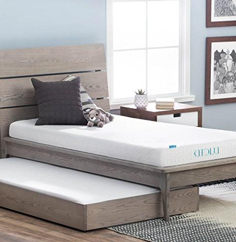LUCID Inch Memory Foam Dual-Layered - CertiPUR-US - Twin