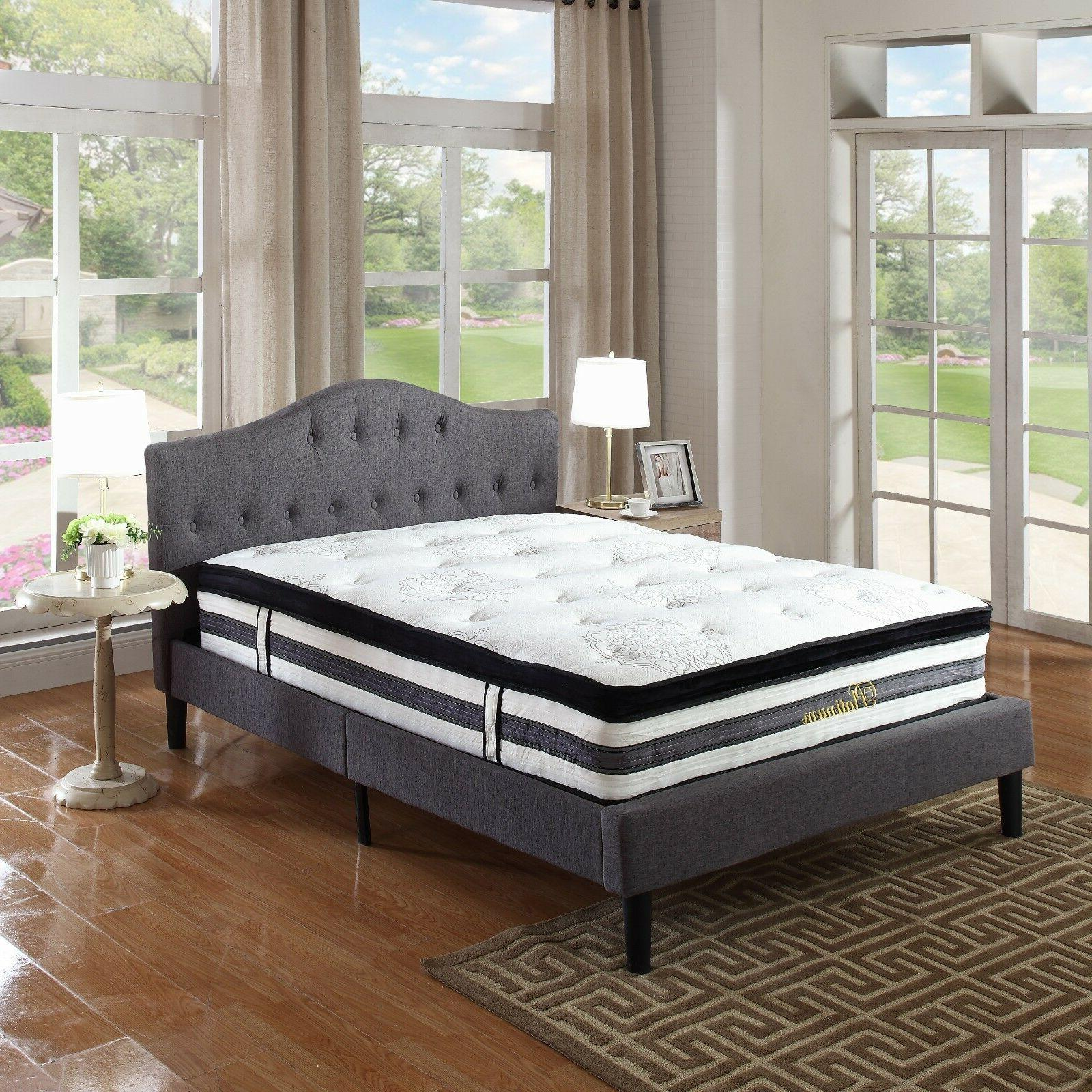 15 inch Hybrid and Memory Mattress Queen