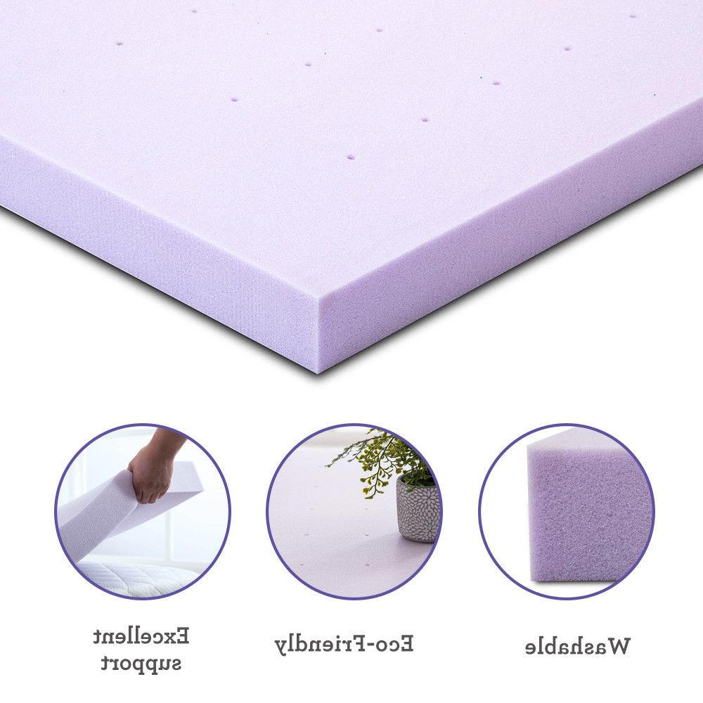 Lavender Memory Topper Pad Bed Size Available