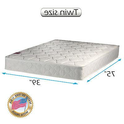 """Legacy Twin Size 39""""x75""""x8"""" Mattress Only - Superior Quality"""