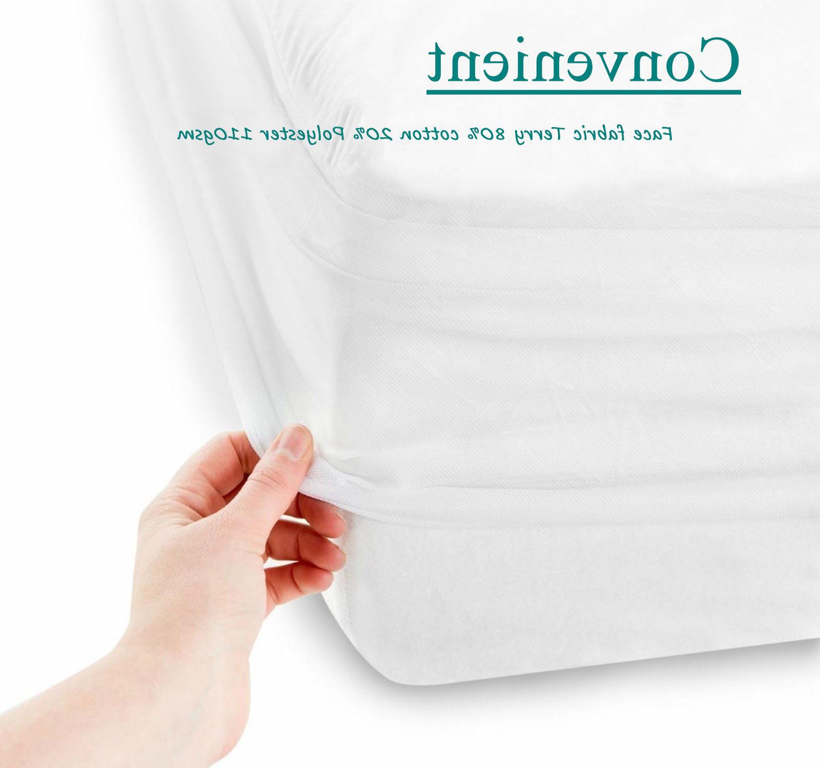 Waterproof King Size Mattress Protector Bed Cover Soft