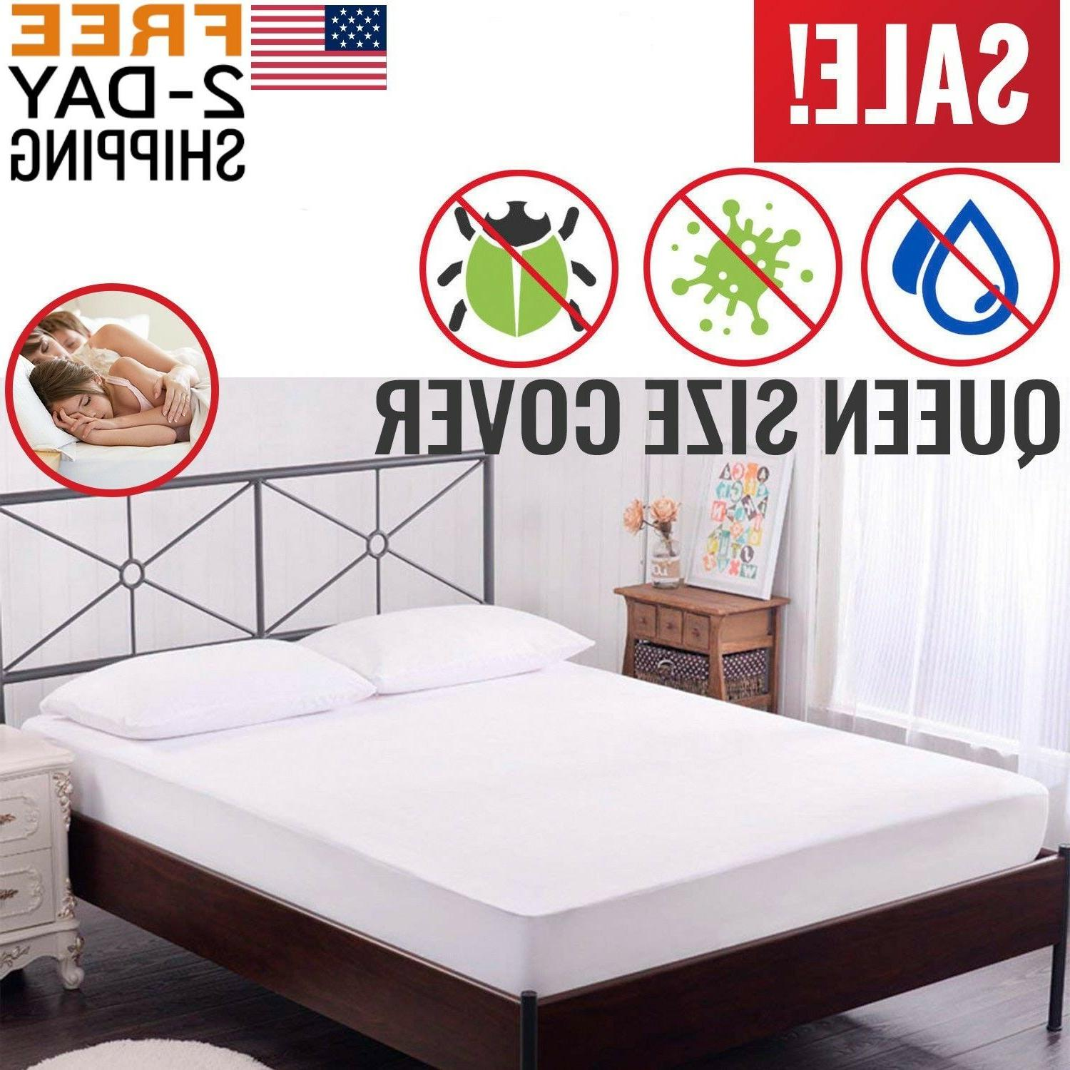 mattress cover protector waterproof pad queen size