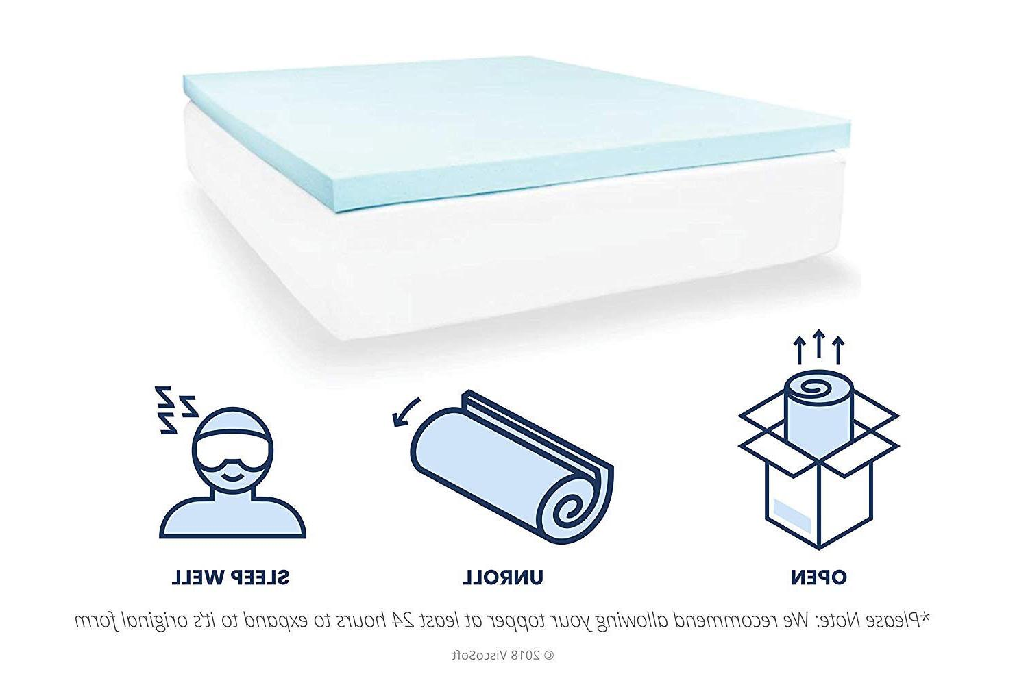 Mattress Gel Foam Inch Removable Cover Toxic New