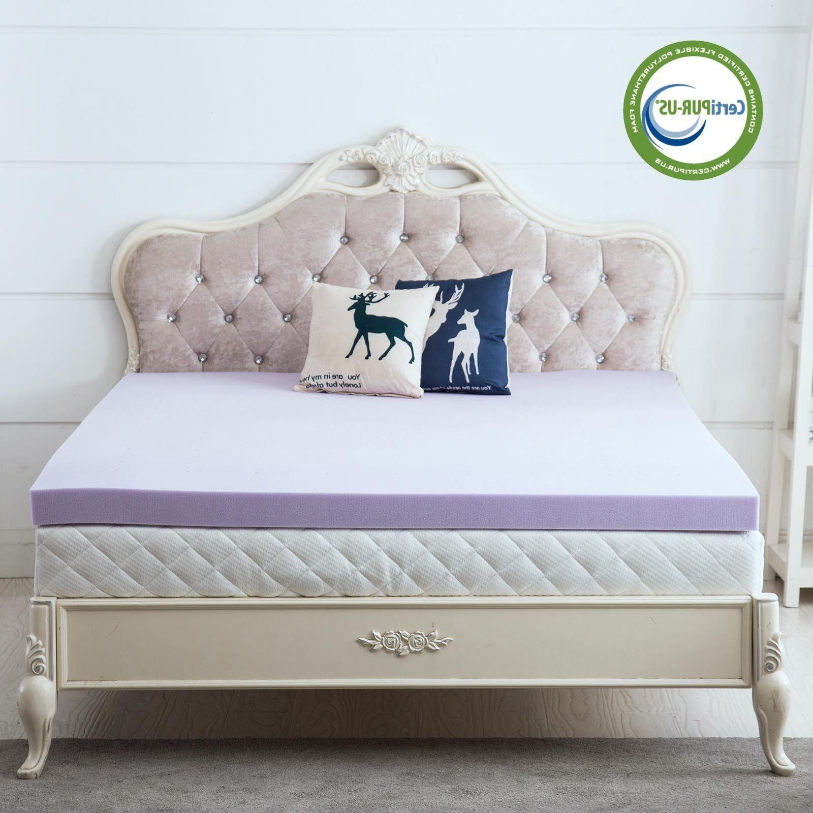 Lavender Topper Inch Pad Bed Size Available