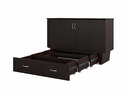 monroe murphy bed chest queen espresso