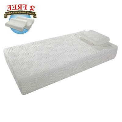 """New 10"""" Cool Traditional Memory Foam 2 Free Pillows + Mattre"""