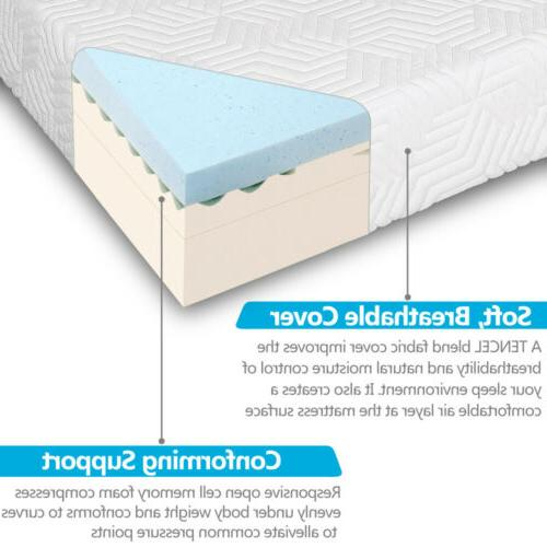 "14"" Cool Memory Foam Mattress 2 White"